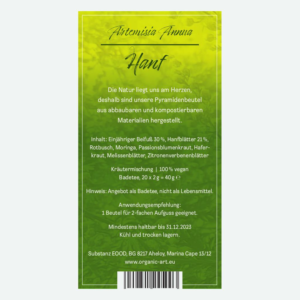 Artemisia Annua mit Hanf zum Aufgießen 40g